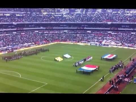 HIMNO NACIONAL ESTADIO AZTECA EJERCITO MEXICANO