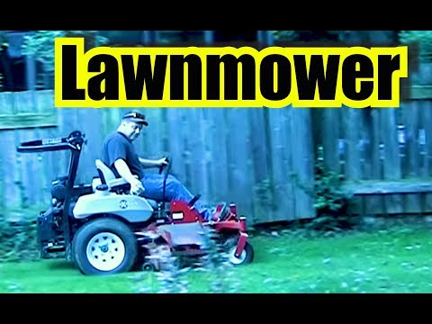 Lawnmower Engine Sounds ~ Mowing the grass