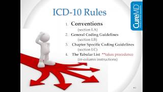ICD 10 conventions and guidelines