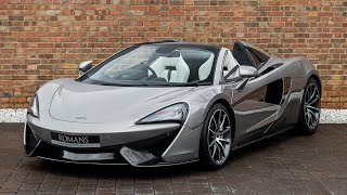 2018 McLaren 570S Spider - Blade Silver - Walkaround, Interior & Exhaust Sound