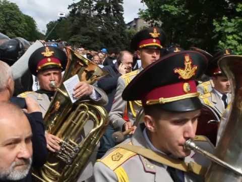 День Победы 2017 Бессмертный полк - драка, Днепр