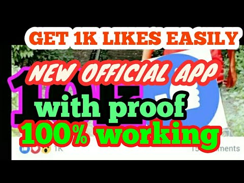 How to Get 1k likes in Facebook. 1000% working new app.in English. more than 10k likes #1