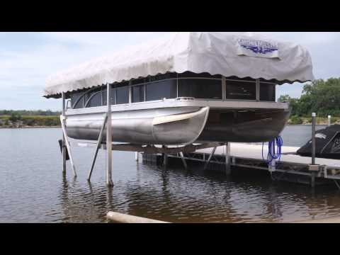 Toon ups pontoon lift how to save money and do it yourself for Boat lift motor covers