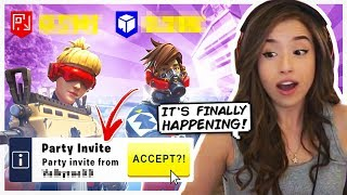I can't believe we're FINALLY playing together! Pokimane Fortnite Squads!