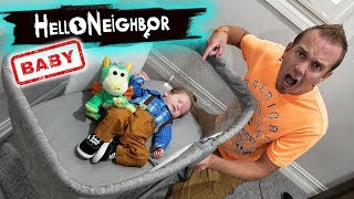 Our Baby Turns Into Mini Hello Neighbor In Real Life!!! Scavenger Hunt!