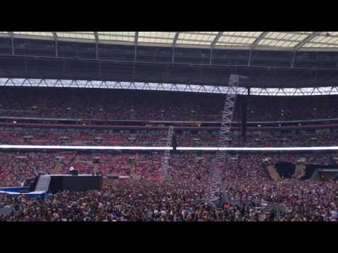 View from Block 122, Row 21, Seat 311 at Wembley Stadium