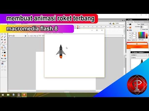 membuat animasi roket terbang