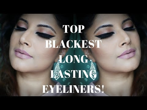 TOP 14 BLACKEST SMUDGE PROOF EYELINERS SWATCHES + REVIEW | AFFORDABLE- HIGH END 2018 | MATTE / GLOSS