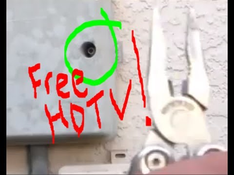 How To Connect Cables To Get Free Hd Tv Channels Legally!!! video