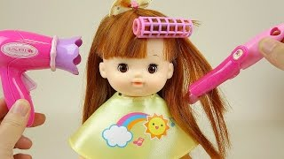 Baby Doll Hair cut and Hair wave with drier toys
