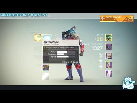 Destiny: My Hunter Bladedancer Subclass Class Setup (Best Setup IMO)