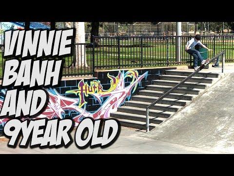 VINNIE BANH & 9 YEAR OLD DESTROY SKATE SPOTS !!! - NKA VIDS -