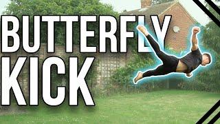 How to Butterfly Kick   Beginner Tricking & Freerunning Tutorial