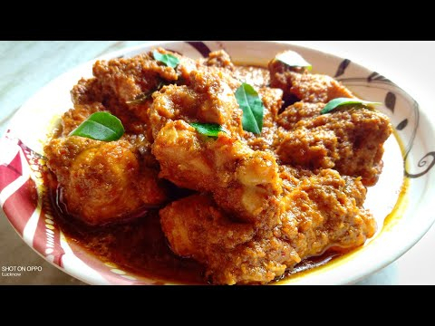 #Chicken#Recipe Chicken Ghee Roast Recipe In Hindi-Urdu | Chicken Dry Masala Recipe By Lucknow Zaika