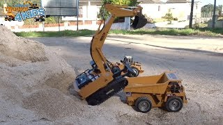 Rc Excavator and Dumper Truck Playing on The Dig Site | Cars Trucks 4 Kids