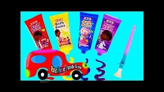 Learn Robocar Poli pumping car and ambulance Amber fishing toys with Learn color names