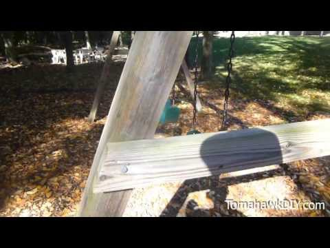 How to Build Backyard Swing Set Easy & Low Cost!