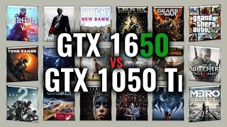 GTX 1650 vs GTX 1050 Ti Benchmarks | Gaming Tests Review & Comparison | 53 tests