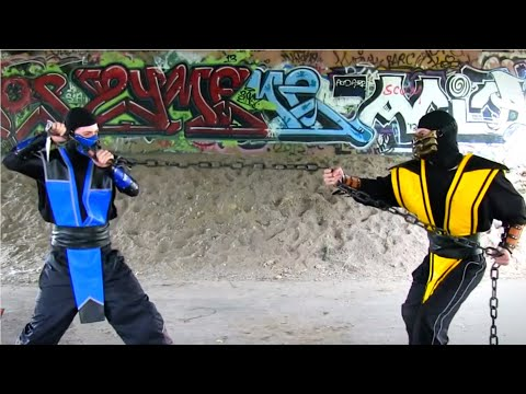 REAL MORTAL KOMBAT - Scorpion vs Sub Zero FIGHT! (MK Parody)