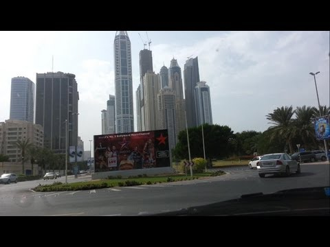Driving in the Internet and media City Dubai in HD