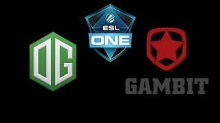 OG vs Gambit Esports ESL One Katowice 2019 Highlights Dota 2