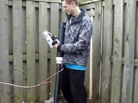 How to install a Ham Radio Antenna using a Potato Canon - Redneck Canadian Style! # 5