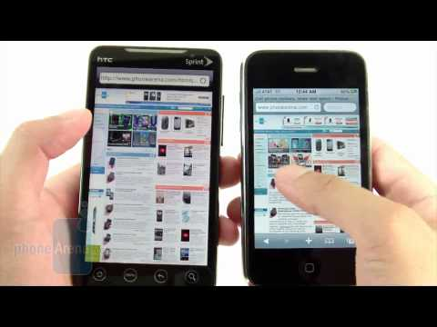 HTC EVO 4G and Apple iPhone 3GS: side by side