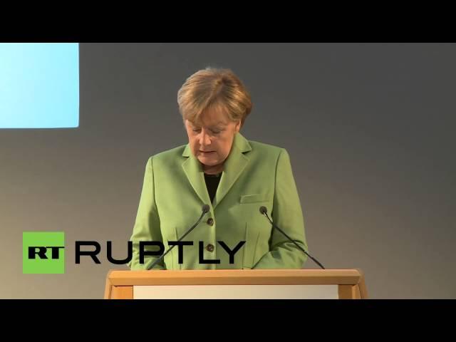 "Germany: ""Sanctions essential but also hit European economy"" says Merkel"