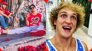 Logan Paul partying at the Clout house with rice gum,faze rug,faze bank,Alissa violet