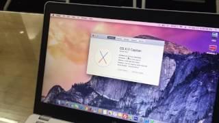 Laptop HP EliteBook Folio 9470M chạy hệ điều hành Mac OS X 10.11 Yosemite