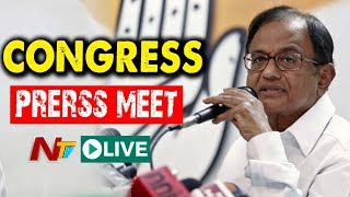 Chidambaram Press Meet Live From Gandhi Bhavan | NTV