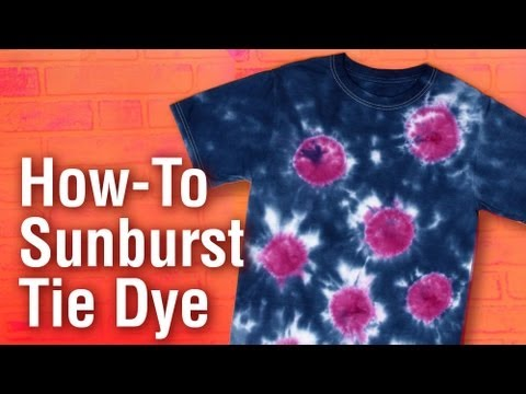 How to create a Sunburst Design Tulip Tie Dye