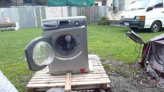 Harlem Shake Washer  - Ripped Video Source - Hotpoint Self Destructs