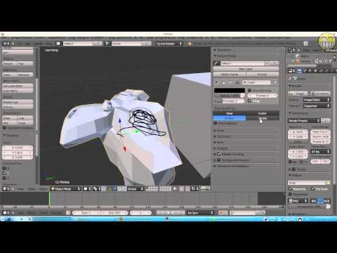 Blender 3D 2.6 - 3D View - Properties (Object Mode) part1
