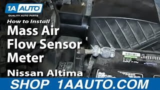 How To Install Replace Mass Air Flow Sensor Meter 1998-01 Nissan Altima