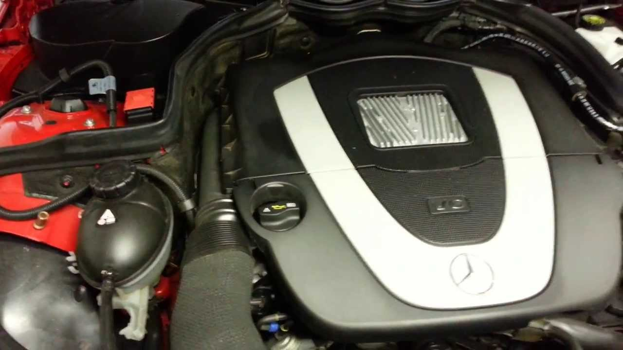 Mercedes C Class Coolant Level How To Check W204 Youtube