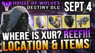 Xur Location September 4 2015 Destiny Where is Xur 9/4/15 Helm of Saint 14 Obsidian Mind + More
