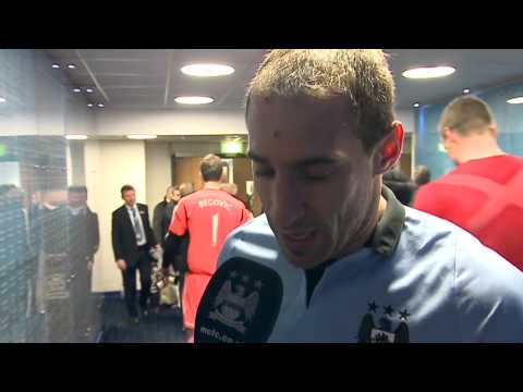 ZABALETA FANCY DRESS City 3-0 Stoke Pablo Zabaleta post match interview