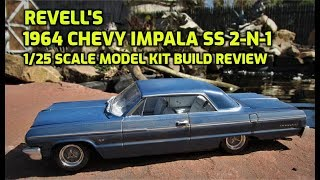 Revell 1964 Chevy Impala SS 2n1 1/25 Scale Model Kit Build Review 85-4487