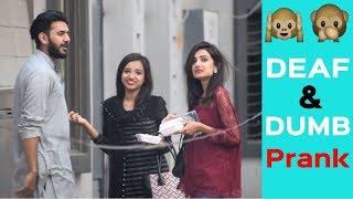 Acting Deaf and Dumb Prank in Pakistan | Funny prank | Haris Awan