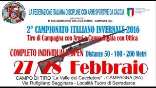 Presentazione Campionato Italiano Invernale 2016 di Tiro di Campagna - COMPLETO individuale OPEN