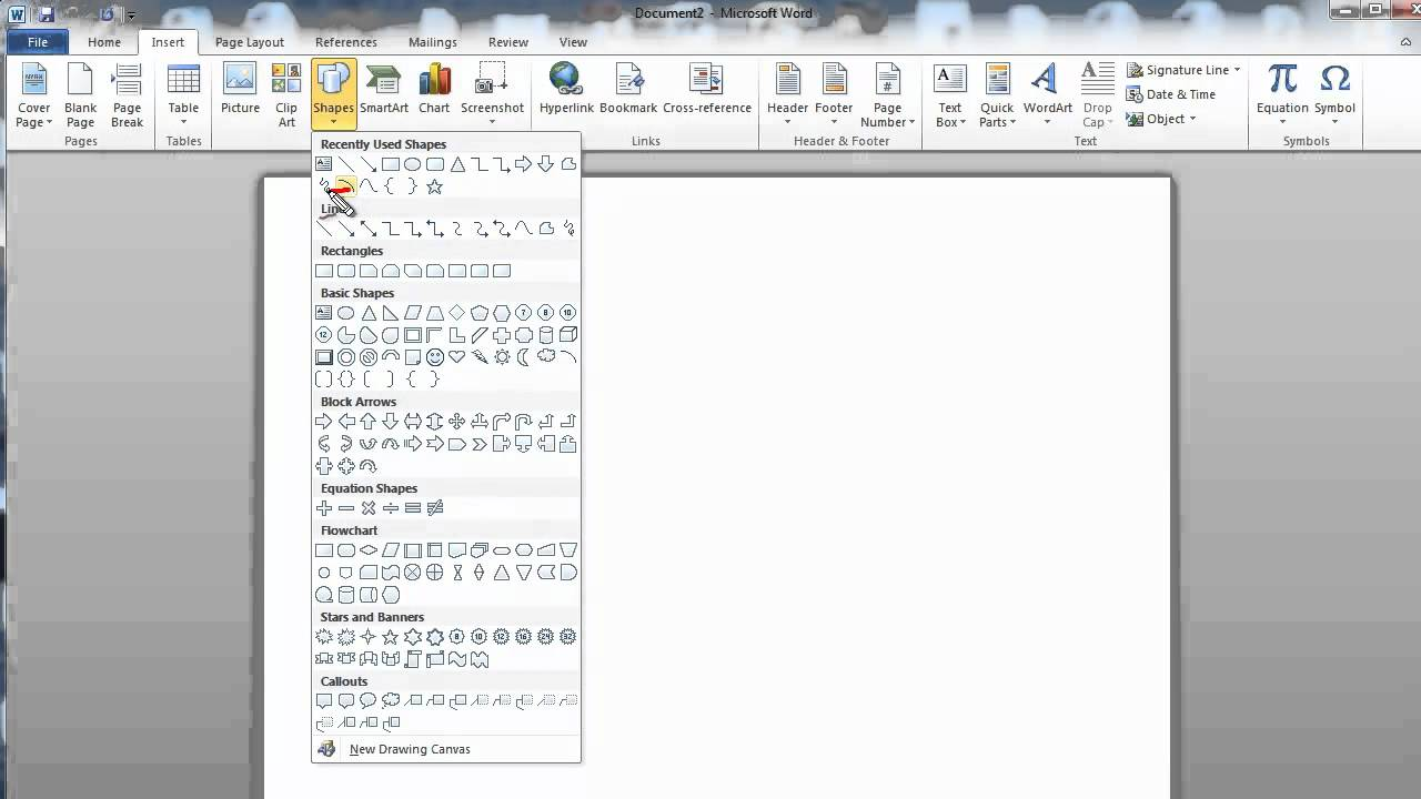 How To Add Line Over Letter Word Doc