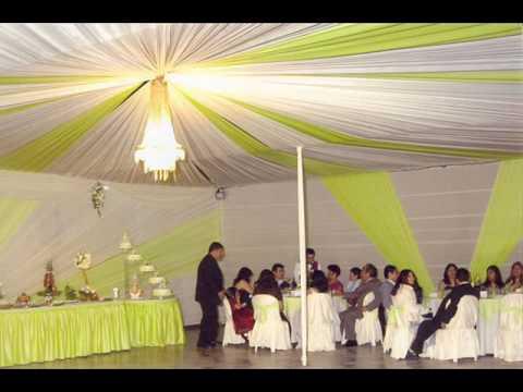 Decoraciones para fiestas de 15 a os y matrimonios youtube for Decoracion de salon para boda