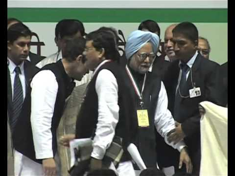 Manmohan Singh & Sonia Gandhi face protest at Minority Ministry Conference