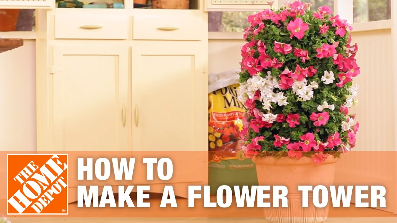 How To Make A Flower Tower The Home Depot YouTube