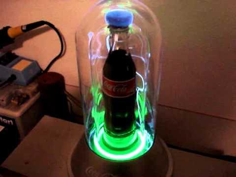 Mini Tesla Trafo Blitze In Coca Cola Reklame Mini Tesla