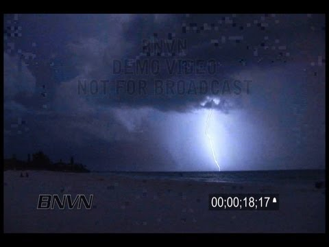 7/28/2010 Siesta Key, FL Lightning Stock Footage