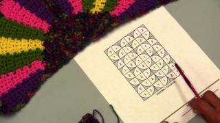 Learn How to Crochet the  Fandango Throw with Red Heart Yarns