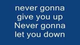 Download lagu Rick Astley Never gonna give you up lyrics!!!