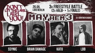DLTLLY // Freestyle Battles // LBB vs Ssynic // Kato vs Brian Damage // Finale